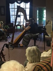 IMG 2639 e1492637927558 225x300 - The month we enjoyed beautiful harp music by Cindy Hicks!